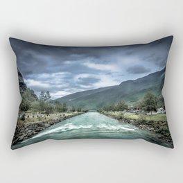 rainy river Rectangular Pillow
