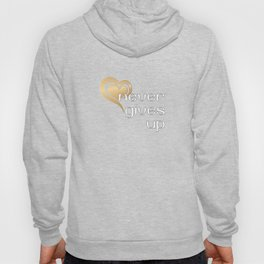 Christian Design - Love Never Gives Up - Bible Verse 1 Corinthians 13 Hoody