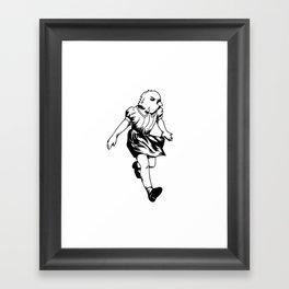 just a girl Framed Art Print