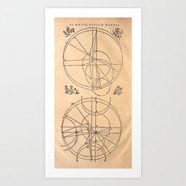 The orbit of Mars, from Kepler's Astronomia Nova (1609) Art Print
