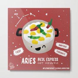 Filipino Food Zodiac: Aries Bicol Express Metal Print