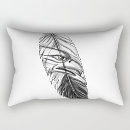 Sea Eagle Feather Tattoo Rectangular Pillow