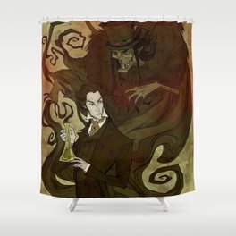 Dr. Jekyll and Mr. Hyde Shower Curtain