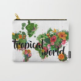 world map tropical vibes 2 Carry-All Pouch