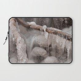 Frozen Winter Waterfall Laptop Sleeve