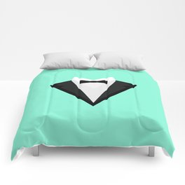 Black Tuxedo Suit with bow tie T-Shirt D946n Comforters