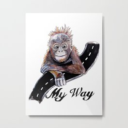 My Way Metal Print