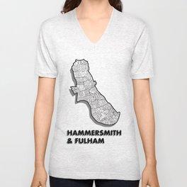 Hammersmith & Fulham - London Borough - Simple Unisex V-Neck