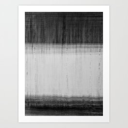 Blur Wall Black and White Abstract Art Art Print
