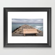 the storm moves away (Sitges) Framed Art Print