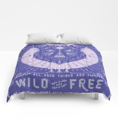 Wild & Free Wolf – Periwinkle Comforters