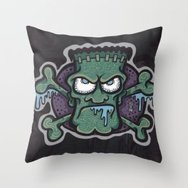 TURN THE CRANK, IT'S TIME FOR FRANK! Throw Pillow