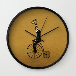 Penny Farthing Giraffe Wall Clock