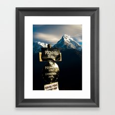 The view from Poonhill Framed Art Print