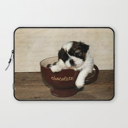 Cup of Puppy Laptop Sleeve