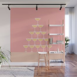 Pink Champagne Tower Wall Mural