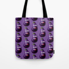 Funny Cartoon Eggplant Pattern Tote Bag