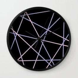 Rose Quartz & Serenity on Black Wall Clock