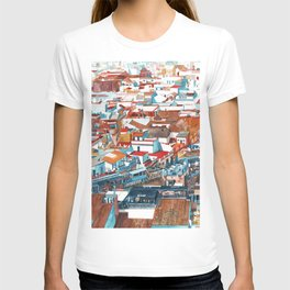 Sevilla buildings extended view T-shirt