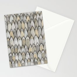 sketchy feather pattern in pale colors Stationery Cards
