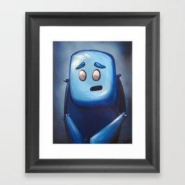 Hugh in Blue Framed Art Print