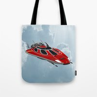 spaceship Tote Bags featuring Spaceship by Design Windmill