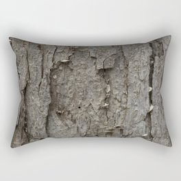 Adler Tree Bark Camouflage Rectangular Pillow