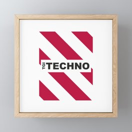 Thank God is Techno Framed Mini Art Print