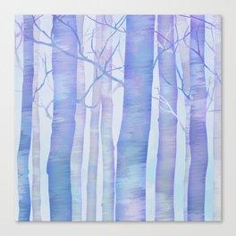 Snowy Birch Forest 1:1 Canvas Print