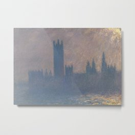 Houses of Parliament, Sunlight Effect Metal Print