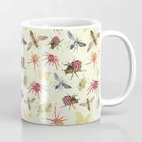 insects Mugs featuring Insects by Stag Prints