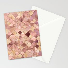 Quatrefoil Moroccan Pattern Pastel Onyx Marble Stationery Cards