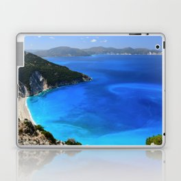 myrtos beach, kefalonia Laptop & iPad Skin