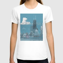 Chicago Lakefront - Blue T-shirt