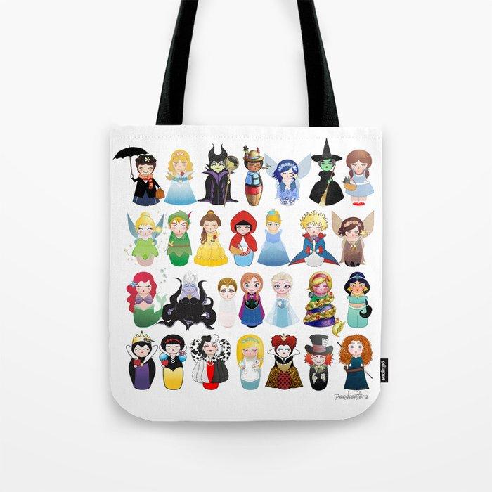 Kokeshis Fairy tales (new version) Tote Bag
