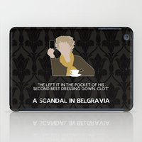 scandal iPad Cases featuring A Scandal in Belgravia - Mrs Hudson by MacGuffin Designs