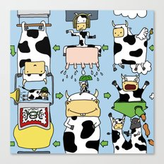 Cow story Canvas Print