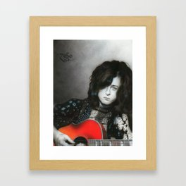 'Jimmy Page' Framed Art Print