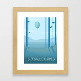 Go Ballooning Framed Art Print