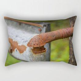 Rusted Fencepost Rectangular Pillow