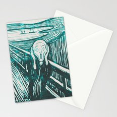 The Scream's Haze (light blue) Stationery Cards