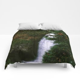 Stream at Multnomah Falls, Oregon Comforters