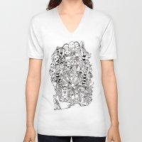 lsd V-neck T-shirts featuring LSD by octavio ramirez