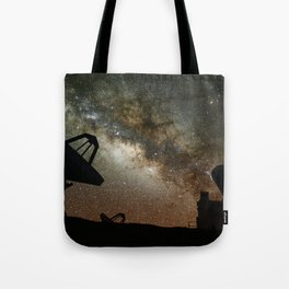 Radio Telescopes and Milky Way Tote Bag
