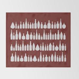 Bottles Red Throw Blanket