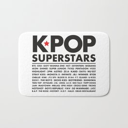 KPOP Superstars Original Boy Groups Merchandse Bath Mat