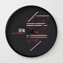 DFW Wall Clock