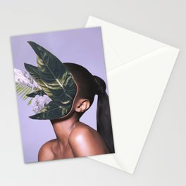 I got plants in my face but don't call me a plant face. Stationery Cards