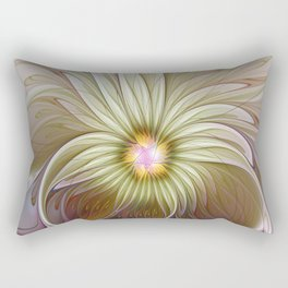 Fantasy Flower, Abstract Fractal Art Rectangular Pillow