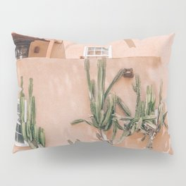 Pink House With Cactus Pillow Sham